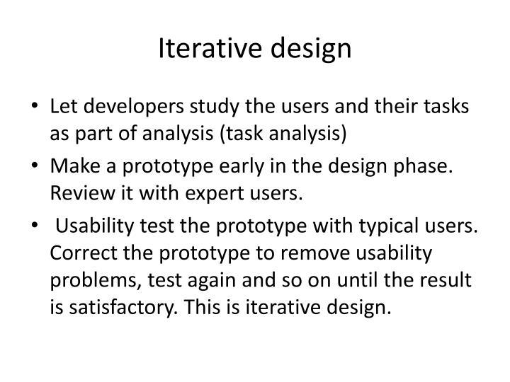 Iterative design