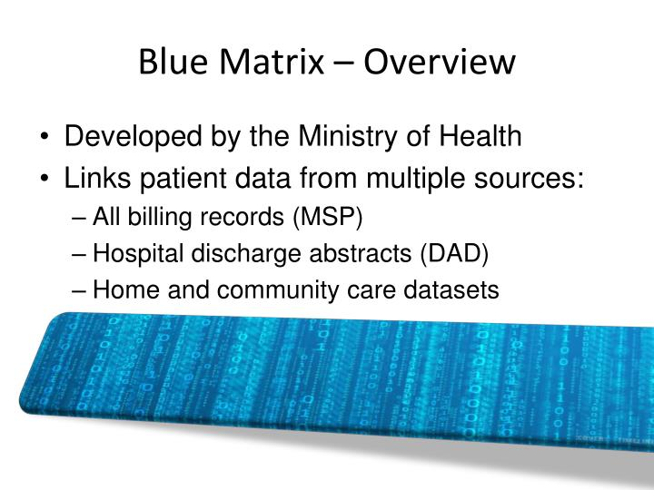Blue Matrix – Overview