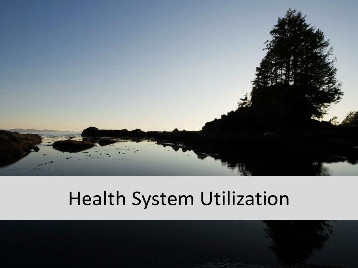 Health System Utilization