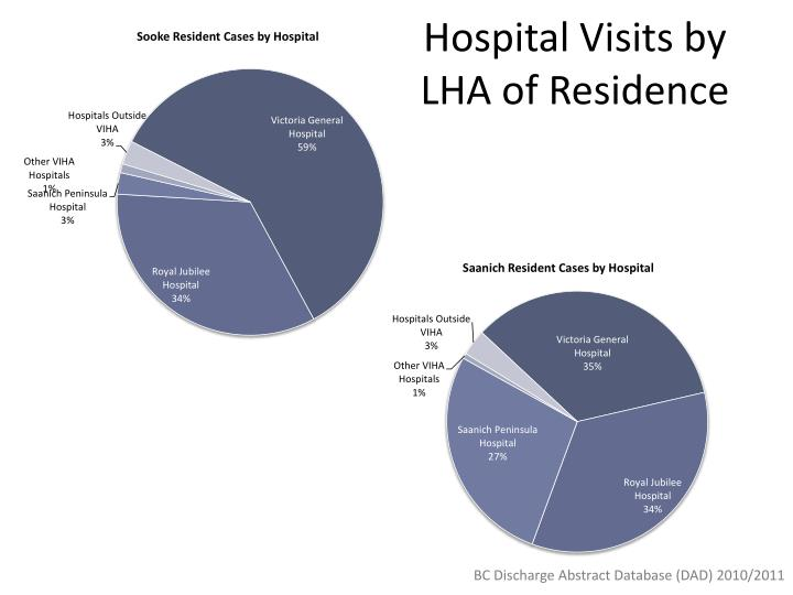 Hospital Visits by LHA of Residence