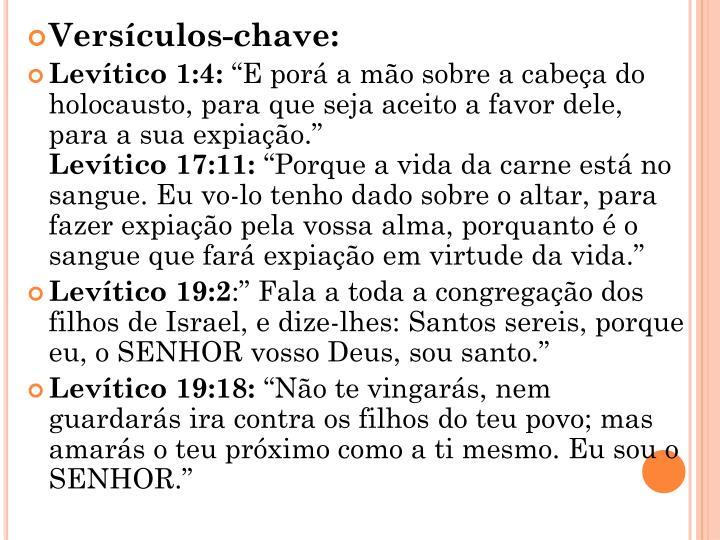 Versículos-chave: