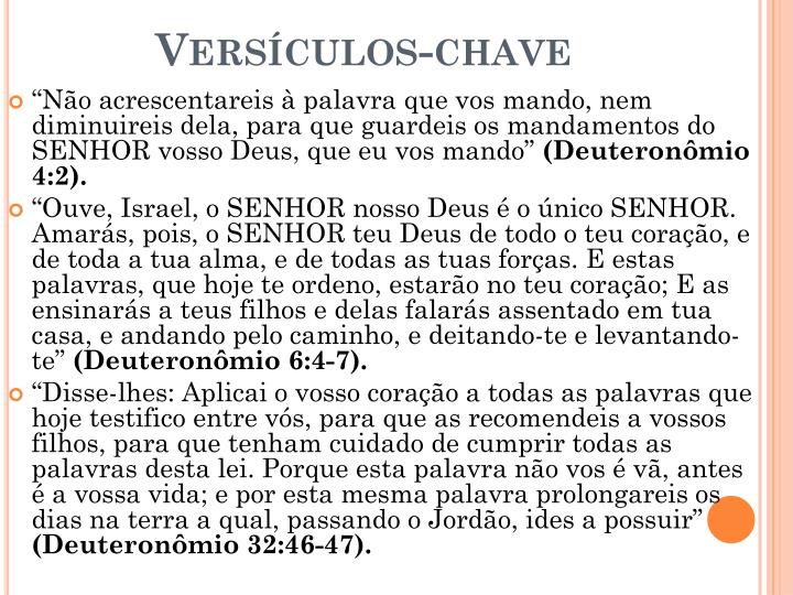 Versículos-chave