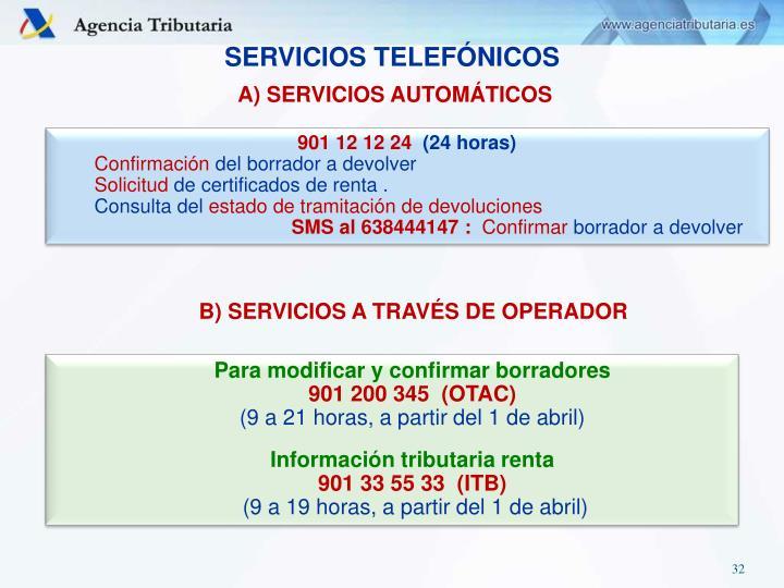 SERVICIOS TELEFÓNICOS