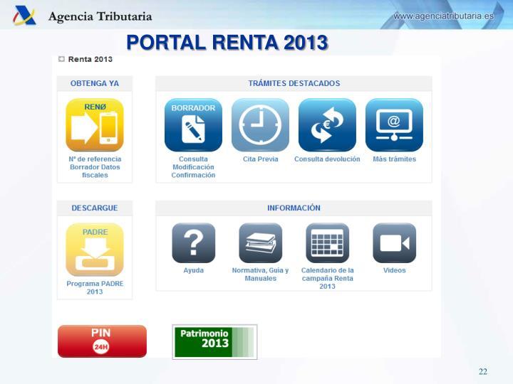 PORTAL RENTA 2013