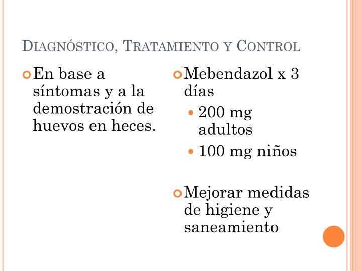 Diagnóstico, Tratamiento y