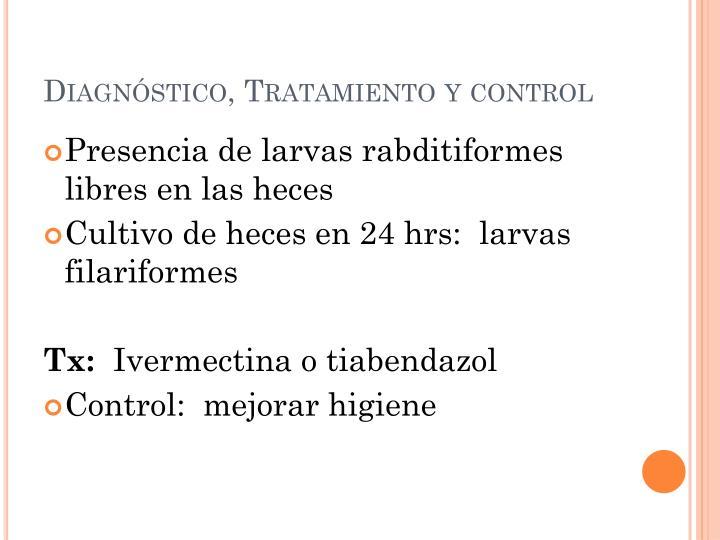 Diagnóstico, Tratamiento y control