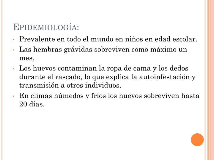 Epidemiología: