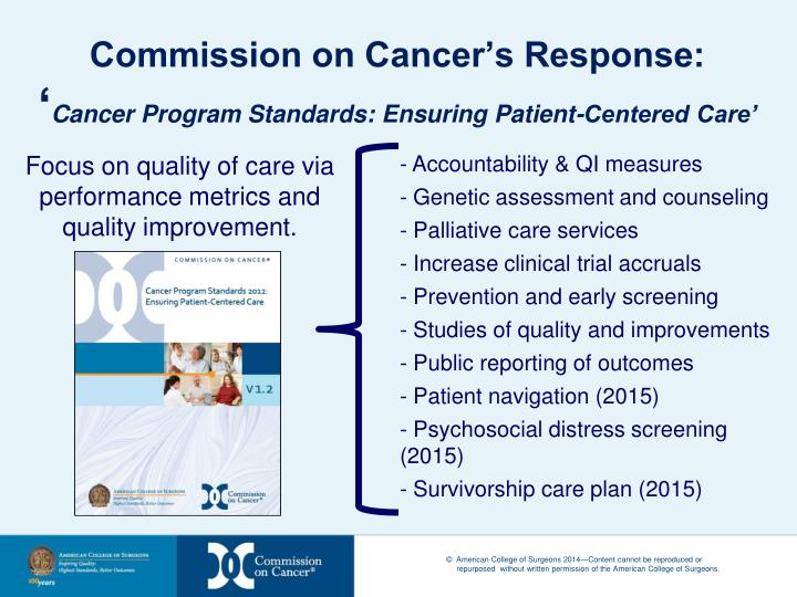 Commission on Cancer's Response: