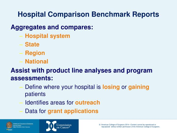 Hospital Comparison Benchmark Reports