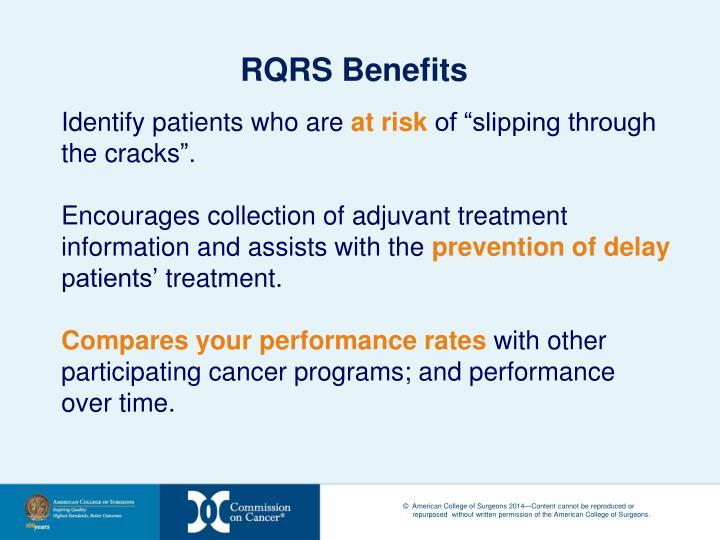 RQRS Benefits