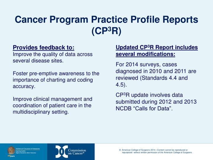 Cancer Program Practice Profile Reports (CP