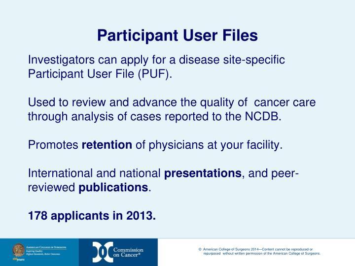 Participant User Files