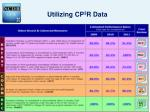 utilizing cp 3 r data