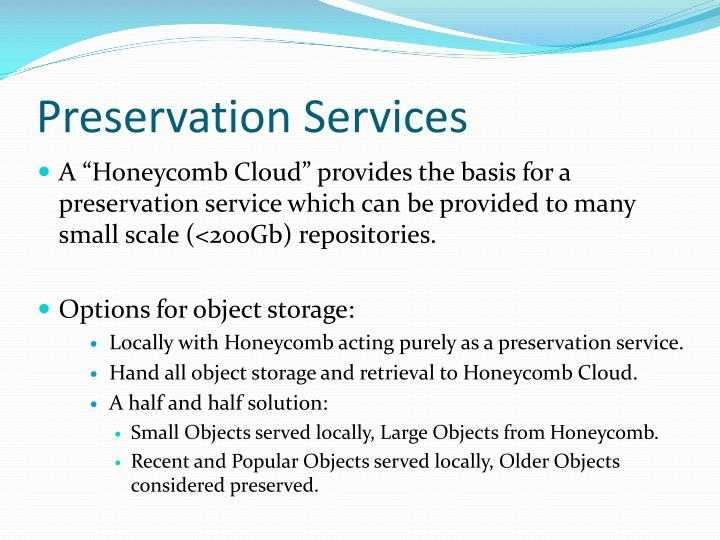 Preservation Services
