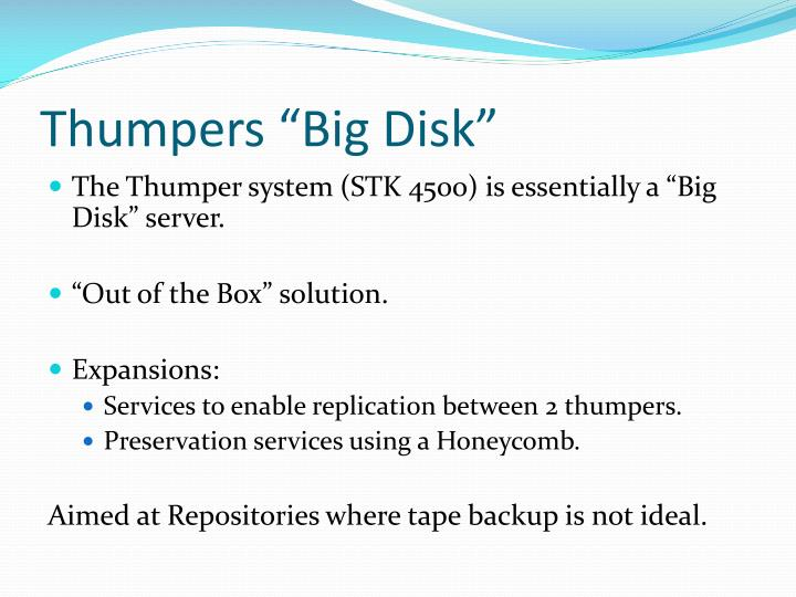 """Thumpers """"Big Disk"""""""