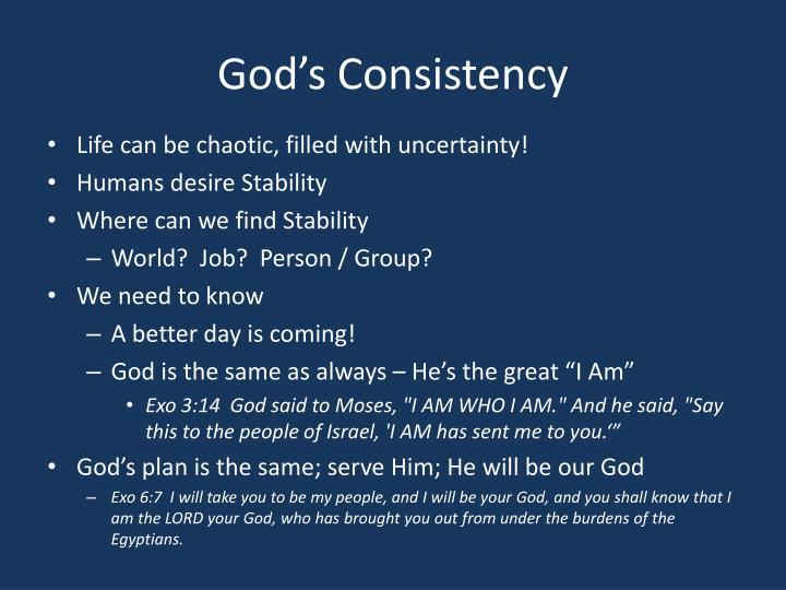 God's Consistency