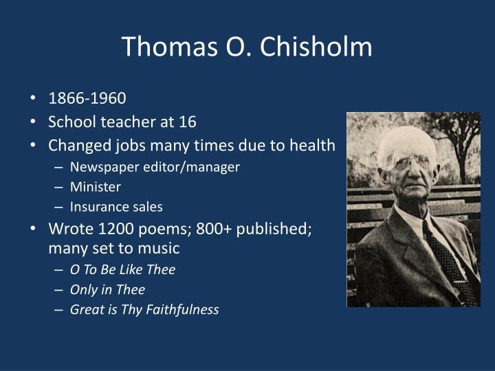 Thomas O. Chisholm