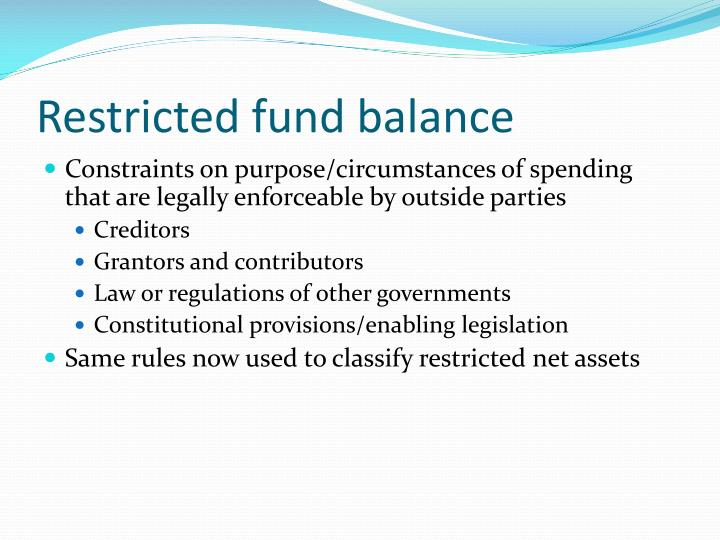 Restricted fund balance