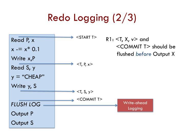 Redo Logging (2/3)
