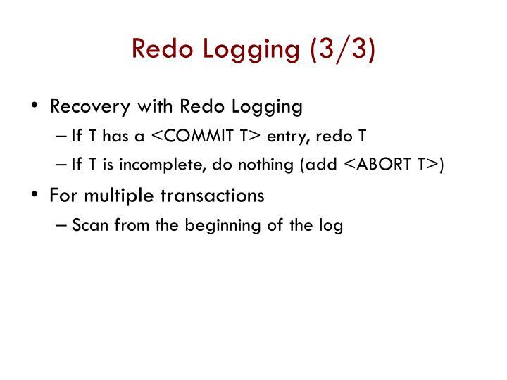 Redo Logging (3/3)