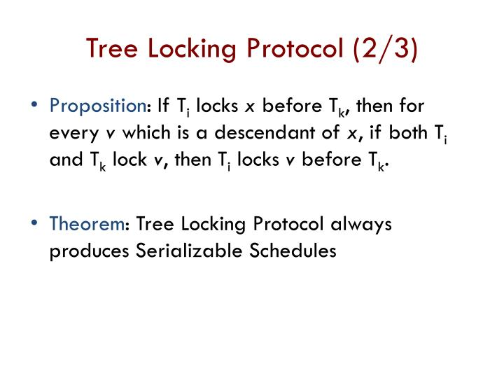 Tree Locking Protocol