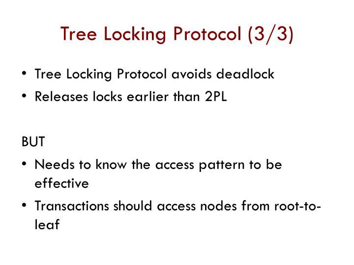 Tree Locking Protocol