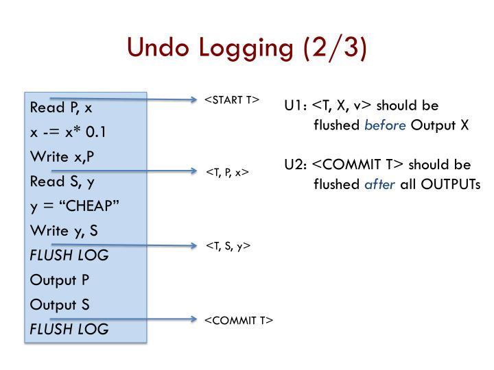 Undo Logging (2/3)