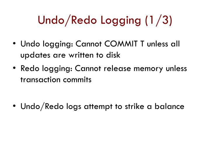 Undo/Redo Logging (1/3)