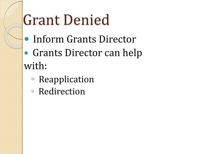 Grant Denied