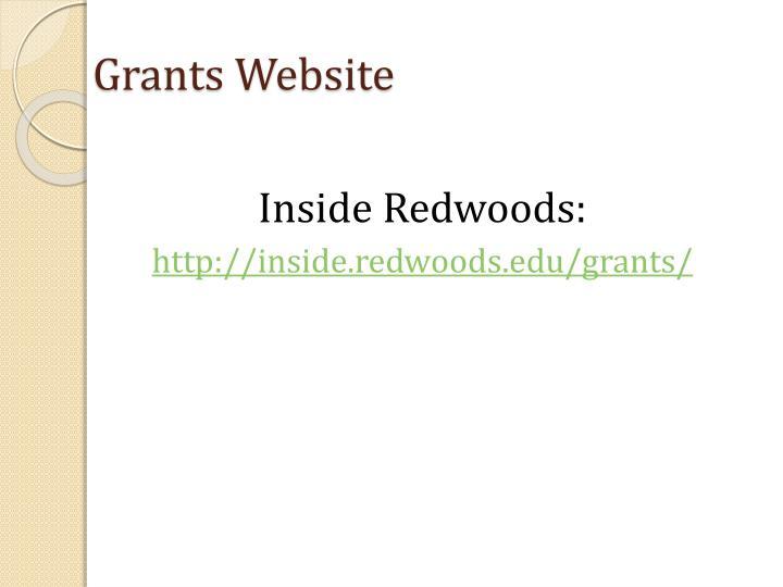 Grants Website