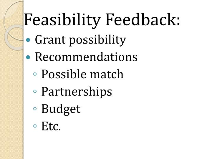 Feasibility Feedback: