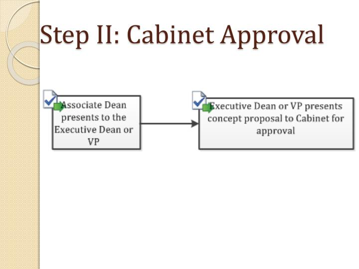 Step II: Cabinet Approval