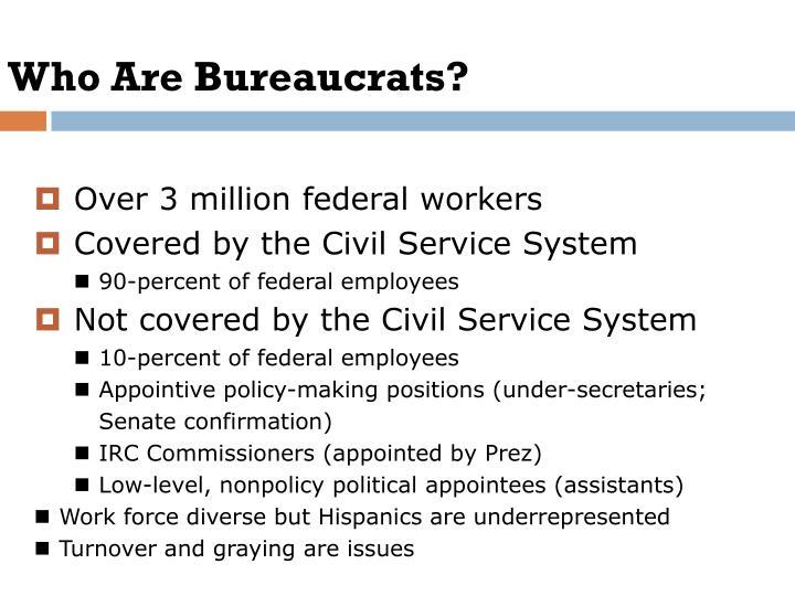 Who Are Bureaucrats?