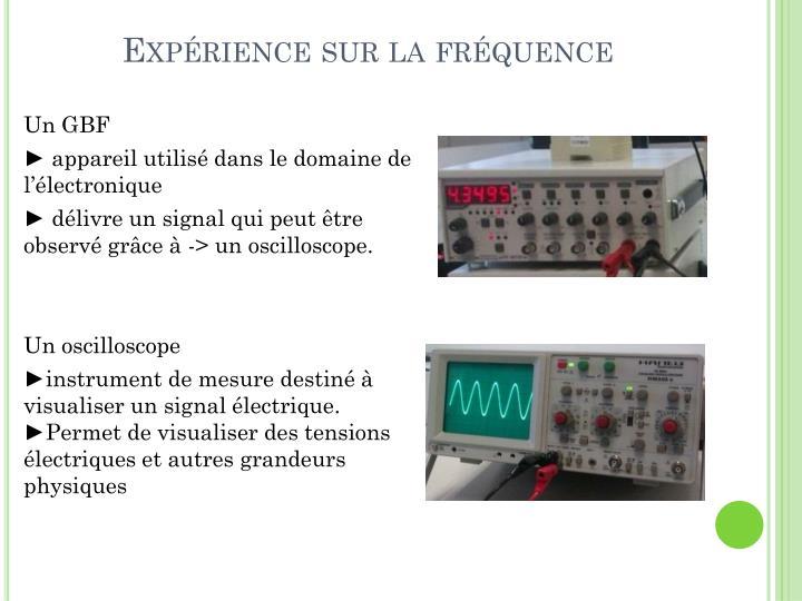 Expérience sur la fréquence