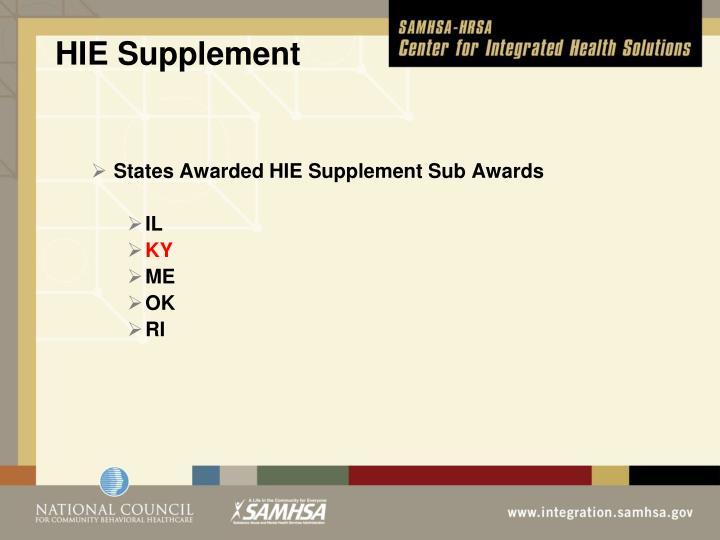 HIE Supplement