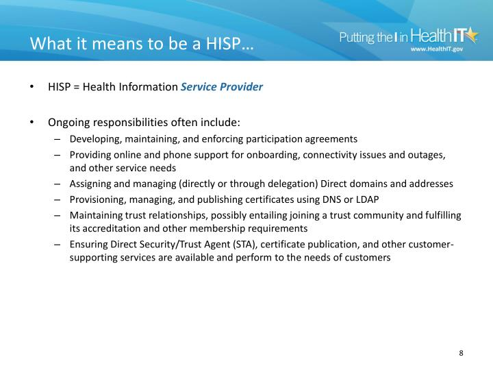 What it means to be a HISP…
