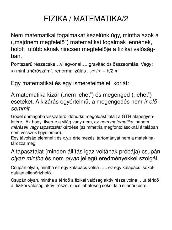 FIZIKA / MATEMATIKA/2