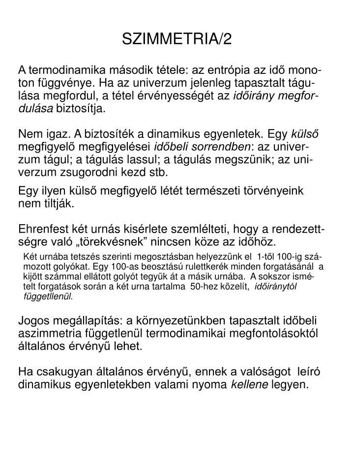 SZIMMETRIA/2