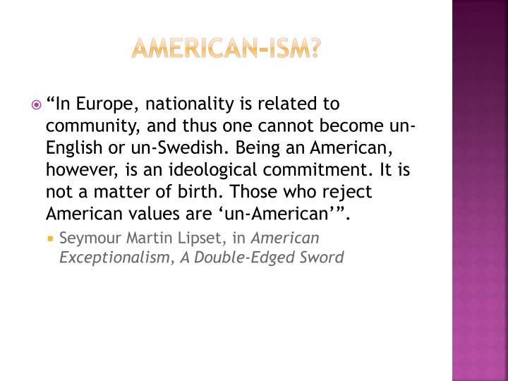 American-ism?