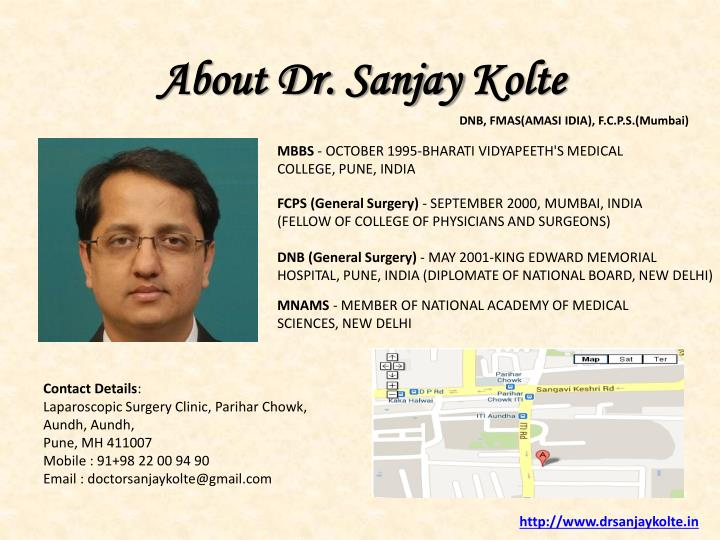 About Dr. Sanjay
