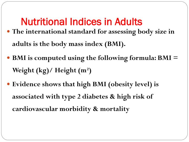 Nutritional Indices in Adults