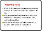 waist hip ratio