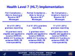 health level 7 hl7 implementation