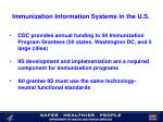 immunization information systems in the u s