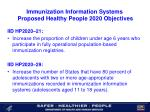 immunization information systems proposed healthy people 2020 objectives