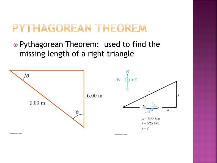 how to find the missing length of a right triangle