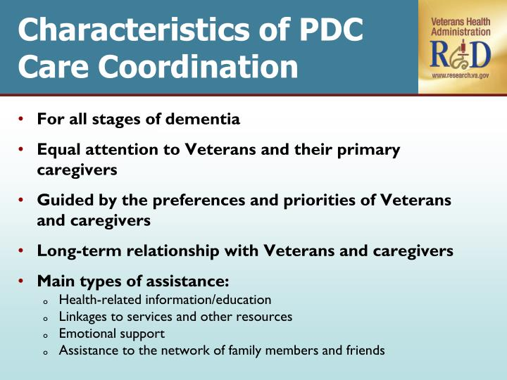 Characteristics of PDC Care Coordination