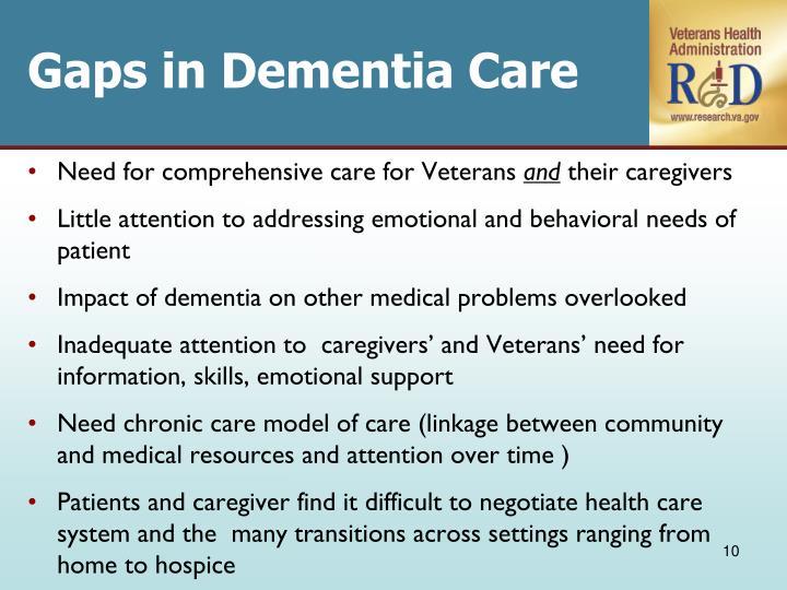 Gaps in Dementia Care