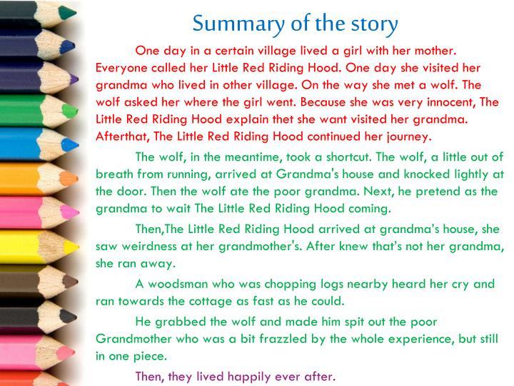 Summary of the story