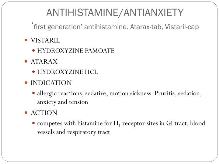 Anxiety: Vistaril For Anxiety
